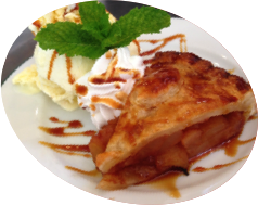 Apple pie with Vanilla ice